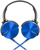 Sony MDR-XB450AP On-Ear Wired Headphone ( Blue )