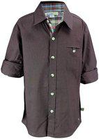 Shopper Tree Boy Cotton Solid Shirt Brown