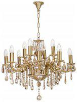 Fos Lighting Candle Lamp 12 light honey crystal chandelier