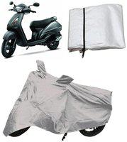 Capeshoppers Bike Body Cover Silver For Tvs Jupiter Scooty