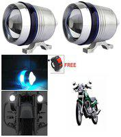Capeshoppers U3 Headlight Fog Lamp With Lens Cree Led For Bajaj Discover 100 M Disc