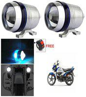 Capeshoppers U3 Headlight Fog Lamp With Lens Cree Led For Hero MotoCorp Xtreme Single Disc