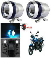 Capeshoppers U3 Headlight Fog Lamp With Lens Cree Led For TVS Star City Plus