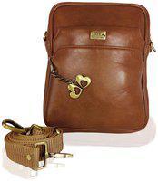 I Define You Men's PU Leather Brown Color Sling Bag