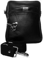 I Define You Men's PU Leather Black Color Sling Bag