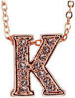 Youbella Jewellery Alphabet Letter K Unisex Pendant / Necklace For Women/girls/boys/men