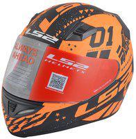 LS2 FF391 Tokyo Black Orange Full Face Helmet