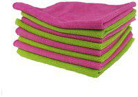 VRT Microfiber Cloth used for Cleaning and Dusting - Kitchen, Washroom, Cars, and Bikes - Pack of 8