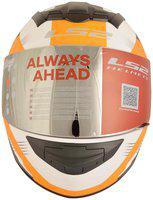 LS2 FF352 Trooper White Orange Full Face Helmet