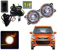 Auto Pearl Car High Power 9 DRL LED DDEL Fog Light With Wiring Kit & Switch For Maruti Alto K10