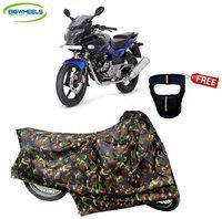 Bigwheels Premium Quality Junglee Matty Bike Body Cover For Bajaj pulsar 220 With Free Anti-Pollution Face Mask
