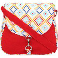 Vivinkaa Multi Red Canvas Sling Bag For Women