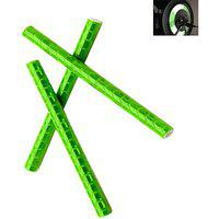 Futaba Bicycle Wheel Rim Spoke Tube Reflective Strip - 12pcs - Green