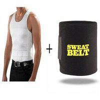 Hhot Shaper Slimming Waist Tummy Sweat Belt Free Size With Men Vest Xxxl