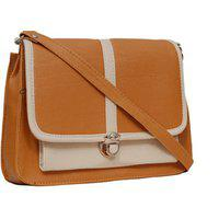 Borse Women's/ladies & Girls Casual & Formal College,office And Perosnal Use A25 Tan And Beige Sling Bag - Diwali Gift