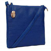 Borse Women's/ladies & Girls Casual & Formal College,office And Perosnal Use Blue Side Buckle Sling Bag - Diwali Gift