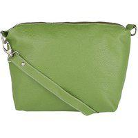 Borse Women's/ladies & Girls Casual & Formal College, Office And Perosnal Use Simple Green Sling Bag
