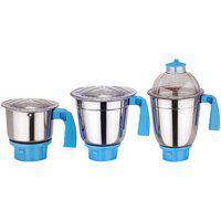 Sunmeet Sets of 3 Jars (1 Chutney Jar 1 Medium Jar 1 Large Jar) Blue AC114