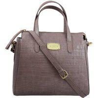 La Roma Women's Stylish Leather Purple Handbag
