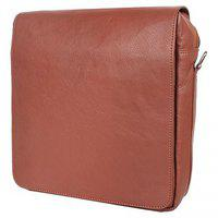 Pyfashion Sling Bag With Synthetic Leather Tan Color