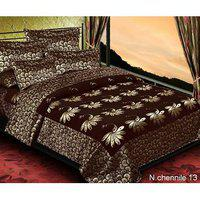 Volvo Chennile Double Bedsheet With 2 Pillow Cover