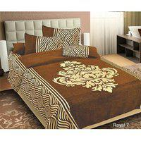 Volvo Double Chennile Bedsheet With 2 Pillow Cover
