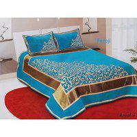 Volvo Chennile Bedsheet With 2 Pillow Covers.