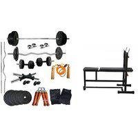 30kg Set With 3-in-1 Multi Bench For Home Gym