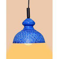 Ah Blue Color Iron Pendant Ceiling Hanging Lamp ( Pack Of 1 )
