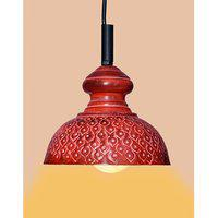 Ah Red Color Iron Pendant Ceiling Hanging Lamp ( Pack Of 1 )