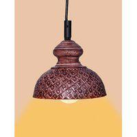 Ah Brown Color Iron Pendant Ceiling Hanging Lamp ( Pack Of 1 )