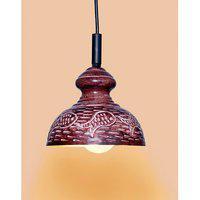 Ah Brown Color Fish Design Iron Pendant Ceiling Hanging Lamp ( Pack Of 1 )