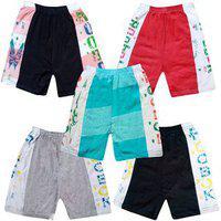 Jisha Fashion Daily Wear Hosiery Cotton Shorts ( Combo Of 5)