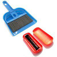 De Ultimate Combo Of Mini Dustpan Broom Set With Magic Roller Hand Dust Cleaning Brush For Car Seat Cover Sofa Bedcarpet