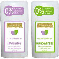 Indus Valley Combo of Lavender and Lemongrass (no paraben and alcohol) Deo Stick 100g