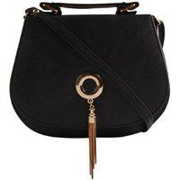 Haqeeba Black Leatherette Material Sling Bags For Women