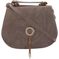 Haqeeba White Leatherette Material Sling Bags For Women