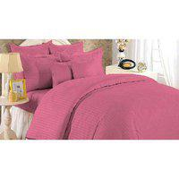 Blush Splash Double Bedsheet With 2 Pillow Cover