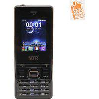 Mtr Boss Dual Sim Mobile Phone Black With 100 Days Replacement Guarantee