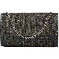 Tarusa Black Sling Bag With Gold Border For Women