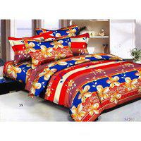 Status 3d Printed Double Bedsheet With 2 Pillow Covers