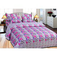 Azaani Multicolour Cotton Double Size Bedsheet