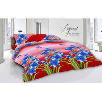Azaani Multicolour Polycotton Double Size Bedsheet