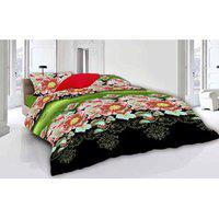 Azaani Multicolour Poly Cotton Double Size Bedsheet