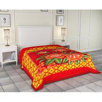 Supersoft Floral Design Double Bed Mink Blanket- By Azaani