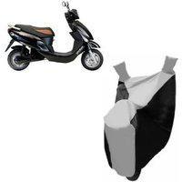 Kaaz Premium Silver With Black Bike Body Cover For Hero Electric Bikes Electric Photon