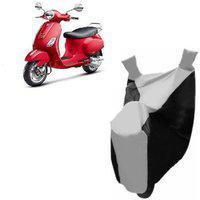 Kaaz Premium Silver With Black Bike Body Cover For Vespa Vxl 125