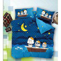 Kuber Industries Double Bedsheet With 2 Pillow Covers King Size Exclusive Cartoon Print- Imported Fabric (kw11)