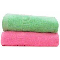Shopping Store Solid Colours Soft Design 300 Gsm Full Size Plain Cotton Bath Towels (size 27 X 54 Inches)