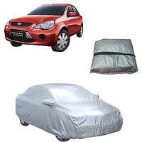 Trigcars Ford Fiesta Car Body Cover Silver With Mirror Pockets